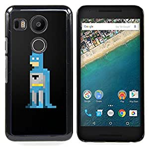 Stuss funda/carcasa rígida–carcasa funda–Bat Hero 8Bit Computer Game Man–LG Google Nexus 5X H790