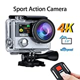 BOBLOV Sports Action Camera 4k Wifi Waterproof 1080P Ultra HD 12MP DV Camcorder 170 Degree Wide 2 inch LCD Screen with Remote Control