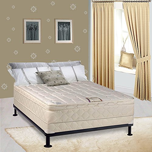 Continental Sleep Mattress, 9'' Gentle Firm Pillowtop Fully Assembled Othopedic Full XL Mattress and 5-Inch Foundation,Elite Collection by Continental Sleep