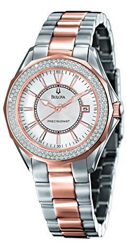 Bulova #98R163 Women's Precisionist Diamond (2/3 ct. t.w.) Two-Tone Stainless Steel Bracelet Watch