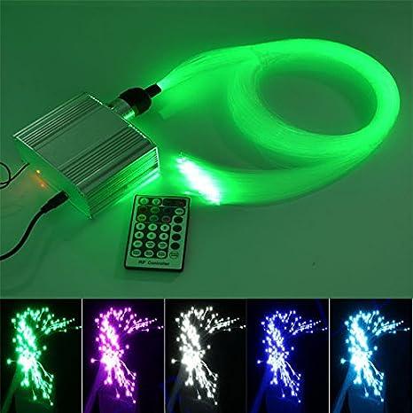 Kingmaled 10W RGBW Twinkle Fibra Optica Star Kit de Lámpara ...