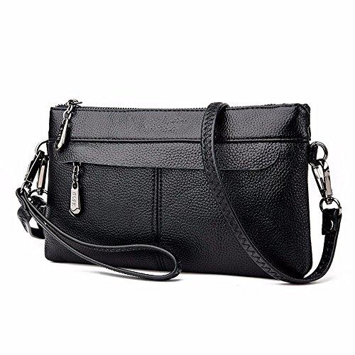 15 façon l'épaule enveloppe mobile cm sac lady coursier 4 black black occasionnelle 27 de de sac PqSw1