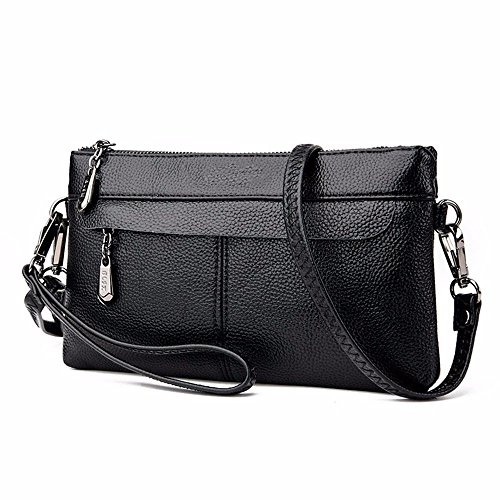 Hombro La 15 Casual Black Bolsa Cartera Dama Sobre Bag 27 Moda De black 4cm Messenger dggYSqH