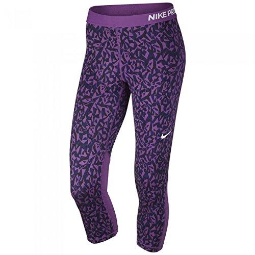 Nike Womens Pro Cool Facet Capri Pant Cosmic Purple/Black/White) (XSmall)