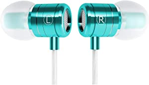 Granvela HD Aluminium-Shell Earbuds with Mic for iPhone,iTouch and Other 3.5mm Plug Music Devices-Ice Green