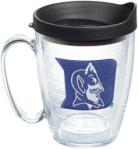 Tervis 1060807 Duke Blue Devils Logo Tumbler with Emblem and Black Lid 16oz Mug, Clear Duke Blue Devils Freezer