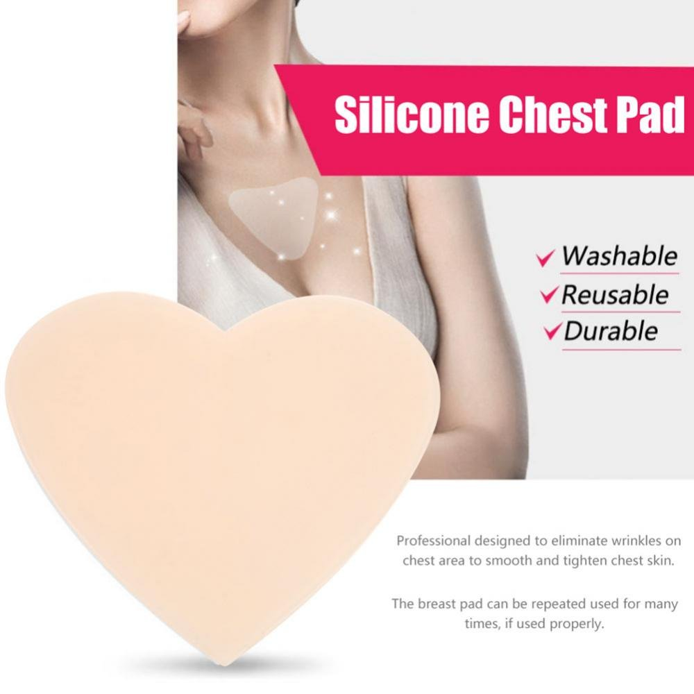 Heart Shape Anti-wrinkle Chest Silicone Pad Eliminates Chest Wrinkles and Reuses Invisible