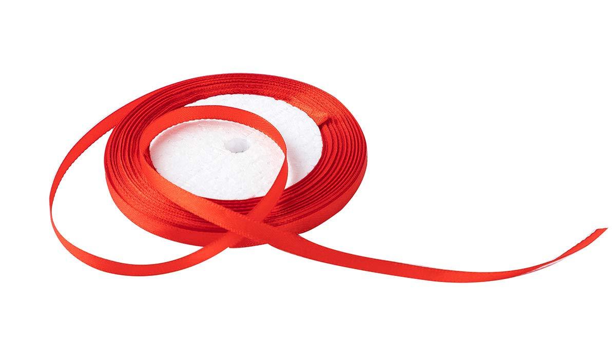 Solid Color Satin Ribbon 1/4, 25yds (red) longteng 4336858067