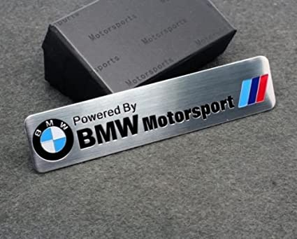 3d bmw motorsport aluminum body side emblem sticker decal badge logo for bmw cars