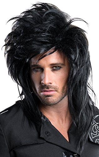 Rubie's Costume Co Rockstar Wig, Black, One Size (2)