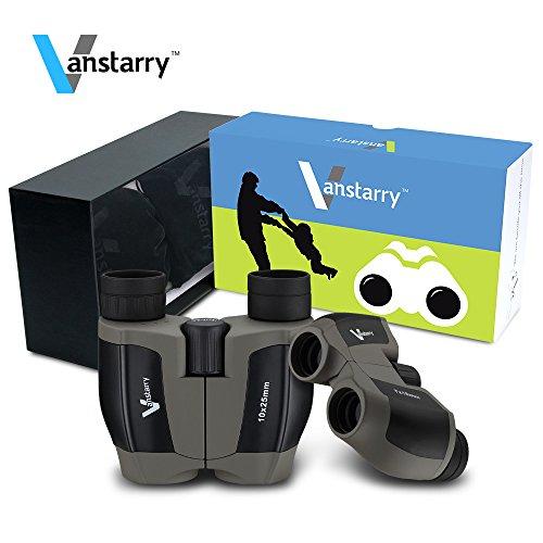Vanstarry 7x18/10x25 Waterproof Binoculars(BAK4,Green Lens),Large Eyepiece Super High-Powered Field Surveillance Binoculars (Square, 7x18/10x25) (Bin Five Mailbox)