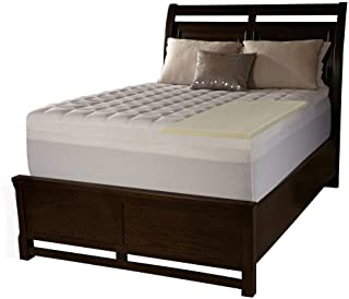 product image for Serta 4-inch Memory Foam Mattress Topper with Contour Pillows (Queen)