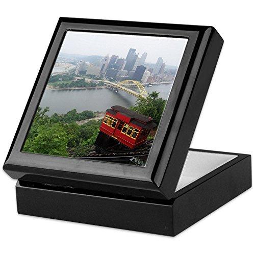 Box Keepsake Pennsylvania - CafePress Pittsburgh Skyline Keepsake Box, Finished Hardwood Jewelry Box, Velvet Lined Memento Box
