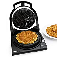 """With a new modern design and a unique """"floating"""" top-plate, the M840 is our most advanced waffle maker yet. In as little as 90 seconds, you'll be preparing the worlds most delicious waffles, effortlessly. The unique Quad® baking system lets you selec..."""