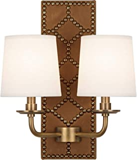 product image for Robert Abbey 1030 Williamsburg Lightfoot - Two Light Wall Sconce, Choose Finish: Aged Brass