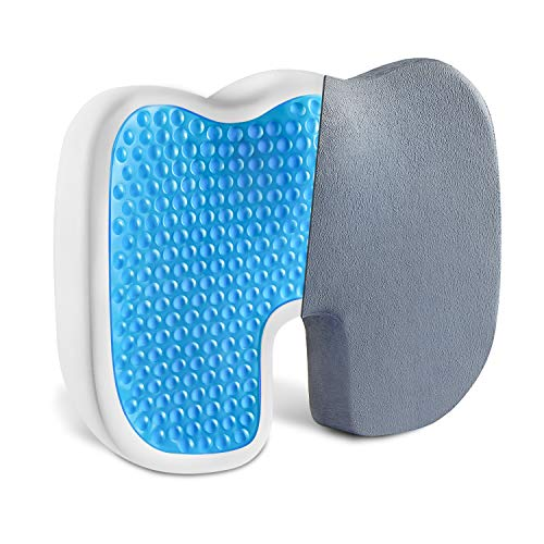Comfort Gel Enhanced Seat Cushion -Vanspace Non-Slip Coccyx Orthopedic Memory Foam Seat Cushion Chair Pillow for Office Chair Car Wheelchair Airplane Seat - Back & Tailbone & Sciatica Pain Relief