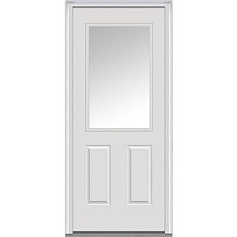 Charmant National Door Company Z000713L Steel Primed, Left Hand In Swing, Prehung  Front Door