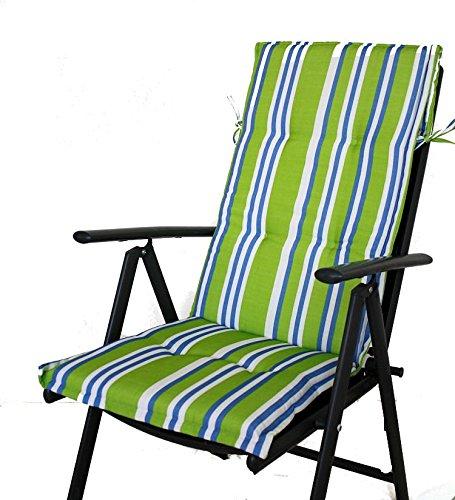 Jardín Cojines de silla Sunny comodidad Apple verde rayas ...