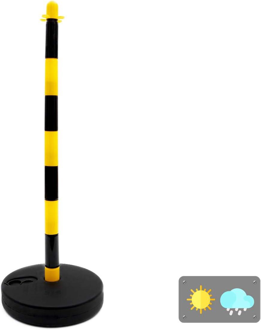 Normaluz BA501190 Postes Para Cadenas Plastico 90cm, Amarillo/Negro