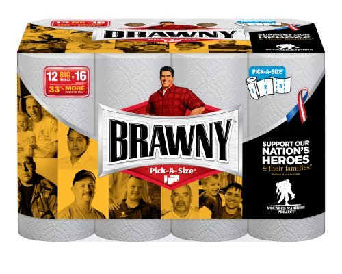 Brawny Paper Towels, 12 Count Big Rolls, White by Brawny