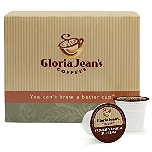 Gloria Jean's Coffee, French Vanilla Supreme, K-Cup Portion Pack for Keurig K-Cup Brewers (Pack of 24)