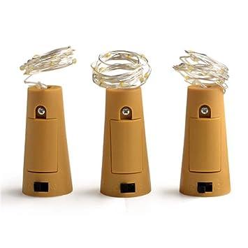 TMSE Luces de la lámpara 10 del Alambre de Cobre del tapón de la Botella Solar