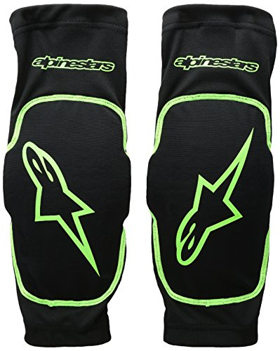 Alpinestars Paragon Elbow Protector, Black Bright Green, X-Large (Best Cross Country Motorcycle)