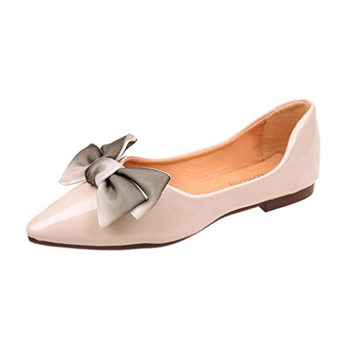 6d27598007218 DENER Women Ladies Girls Flats Shoes Mules, Bow Slip on Pointed Toe ...