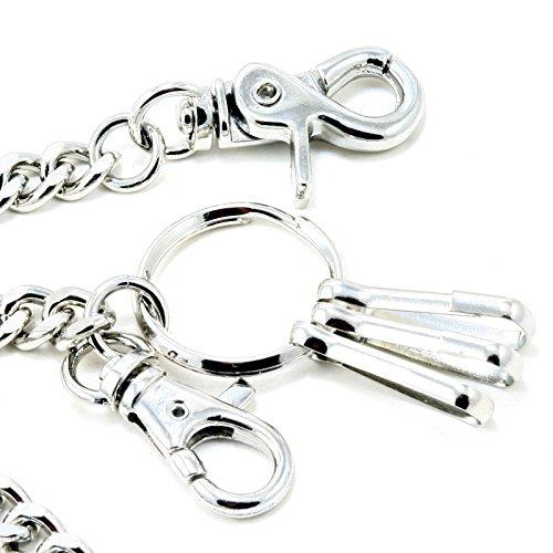 DoubleK Basic Strong Leash Biker Trucker Key Jean Wallet Chain (21'') Silver CS15420 by Double K (Image #3)'