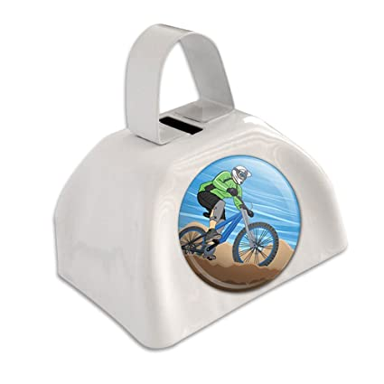 Amazon.com: Ciclismo de Montaña Biker Blanco cencerro ...