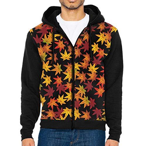 Wens Canadian Flag Maple Leaf Zipper Hoodie Sweatshirt Loose Zipper Jacket