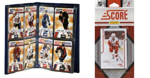 NHL Detroit Red Wings Licensed 2011 Score Team Set and Storage Album