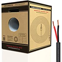 Mediabridge 12AWG 2-Conductor Direct Burial Speaker Wire (500 Feet, Red/Black) - 99.9% Oxygen Free Copper - UL Listed - Rated for Direct Burial Use (Part# SWDB-12X2-500 )