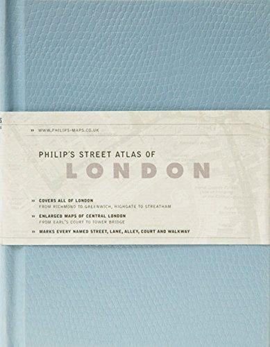 Download Philip's Street Atlas of London: De Luxe Edition Red Reptile ebook