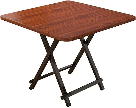 QYJ-Mesas Mesa Cuadrada De Madera Para Cocina Doméstica 2-4 Personas Mesa Plegable Portátil (color De Madera Profunda): Amazon.es: Hogar