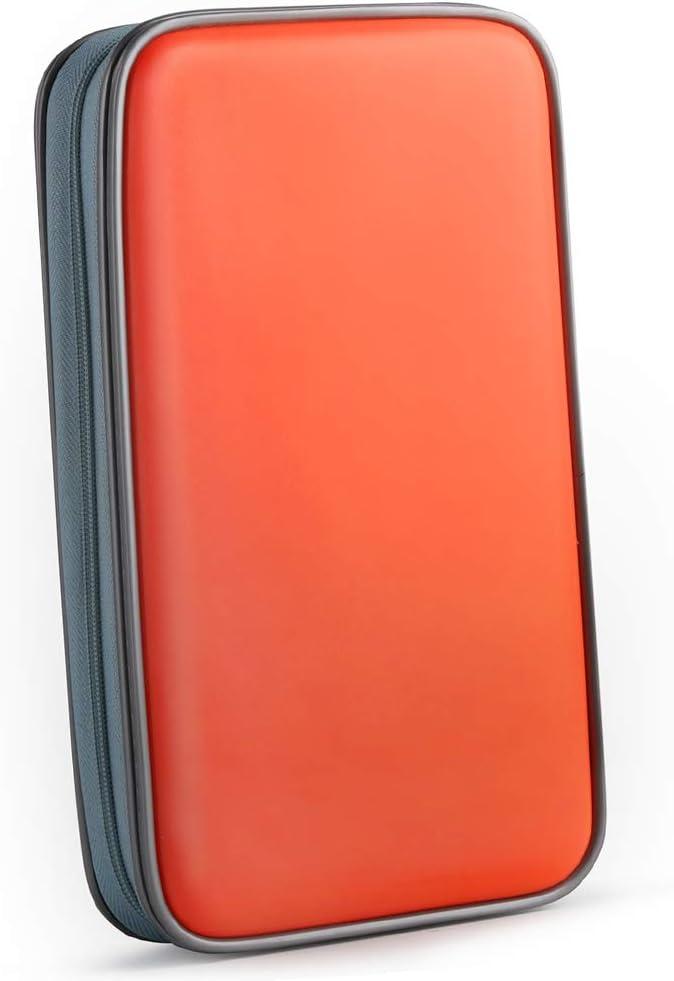 Bageek Cd Tasche 80 Cd Hüllen Dvd Hüllen Cd Aufbewahrung Dvd Tasche Orange 80 Elektronik