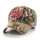 MLB Washington Nationals Clean Up Adjustable Hat, One Size, Realtree Camouflage