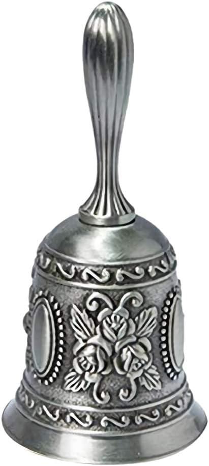 IUwnHceE Weihnachten Hand Bell Ringing Metall Tee Handglocke mit Griff Laut Rufdienst Glockenton Handbell f/ür Hochzeit Veranstaltungen Gold 1 Pc