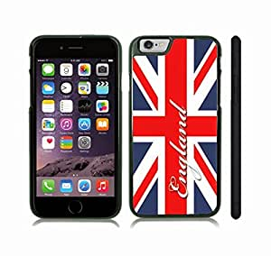 iStar Cases? iPhone 6 Plus Case with UK Flag Union Jack Cracked Design , Snap-on Cover, Hard Carrying Case (White)