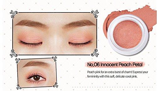 Velvet Pure Eye Shadow (Peripera Wholly Deep VELVET Pot Eye Shadow (1+1) Buy 1 Get 1 (#6 Innocent Peach Petal, #7 Pure Milk Tea Brown))