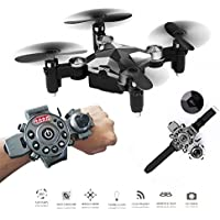 Mini Pocket Drone,Dulcii RC Quadcopter,FPV WiFi 0.3MP Camera,With Watch Style Remote Controller