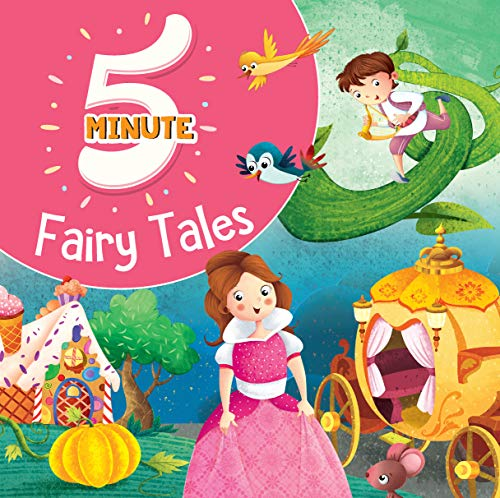 5 Minute Fairy Tales - Premium Quality Padded & Glittered Book Hardcover – 1 July 2020