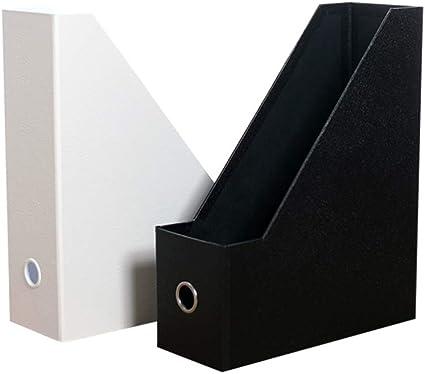 Porta Carpetas Papel Oficina Escritorio Carpeta Caja De Almacenamiento Estante Blanco Y Negro En El Escritorio Estudiante A4: Amazon.es: Oficina y papelería