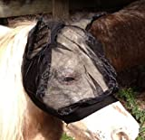MINI Miniature Horse Fly Gnats Mosquitos Bug Veil Black Lycra Mask with Ears