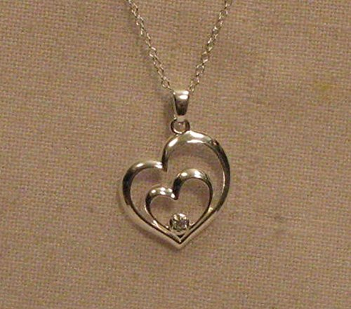 Avon Sterling Silver Hearts Intertwined Motherly Love Necklace