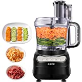 Food Processor 12-Cup, Aicok Food Processor Blender, Multi-Function Food Processor, 1.8L, 3 Speed
