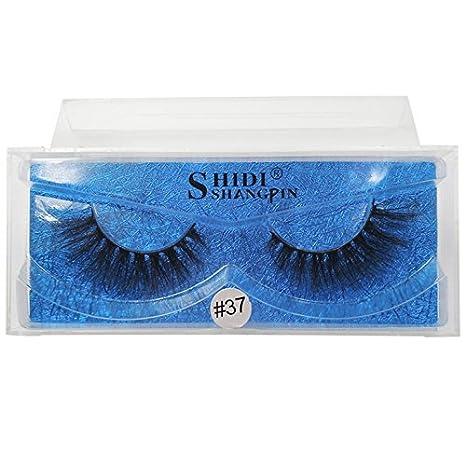 SHIDISHANGPIN 1 Pair Black Eyelashes Natural Long 3d Lashes 1cm-1.5cm False Eyelashes False Lashes Cils 37S
