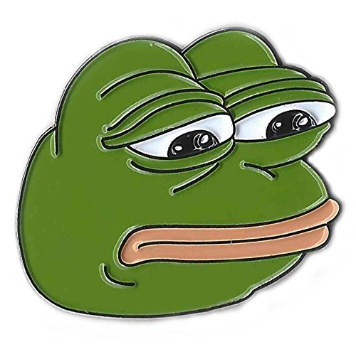 Price comparison product image Sad Pepe the Frog Meme Pin, Collector Quality Durable Enamel, Secure Back, Warranty.
