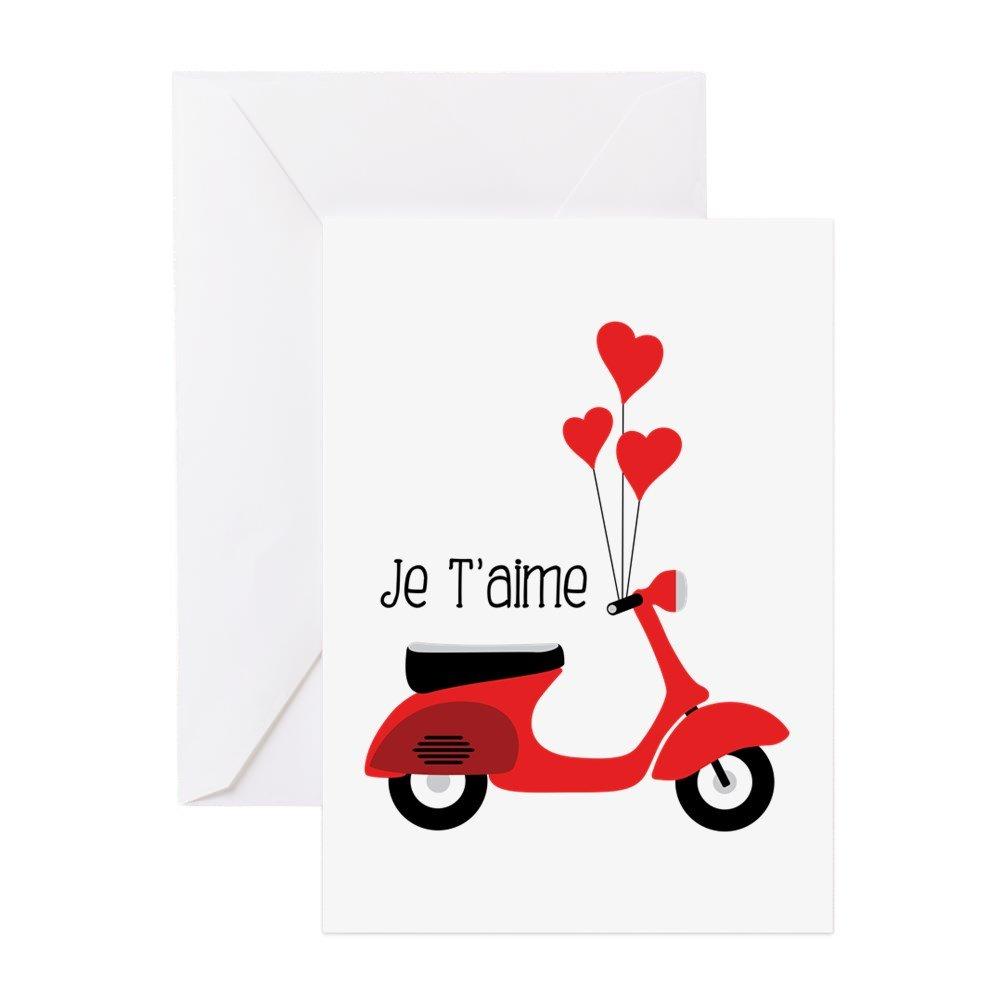 CafePress – Je Taimeグリーティングカード – グリーティングカード、注意カード、誕生日カード、空白内側マット B073WHVMW1