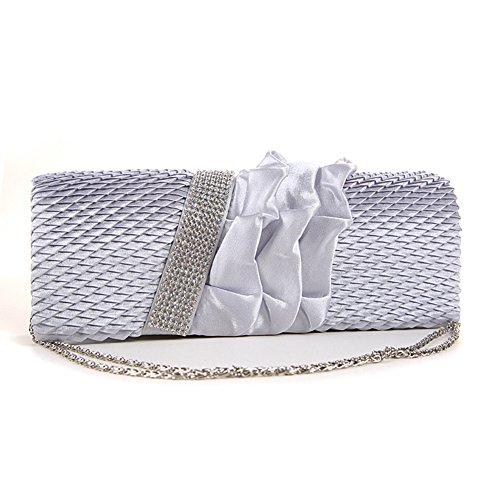 GSPStyle - Cartera de mano para mujer Plateado plata talla única plata